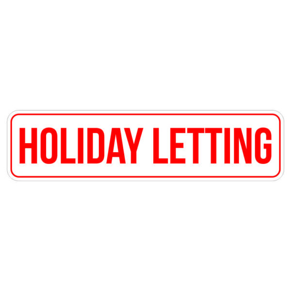 Holiday Letting Real Estate Sticker