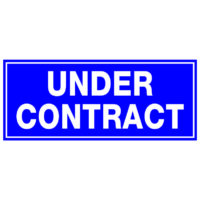 Under Contract.large blue sticker